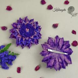 Dahlia felt flower in...