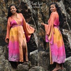 Silk kimono coat, kimono...
