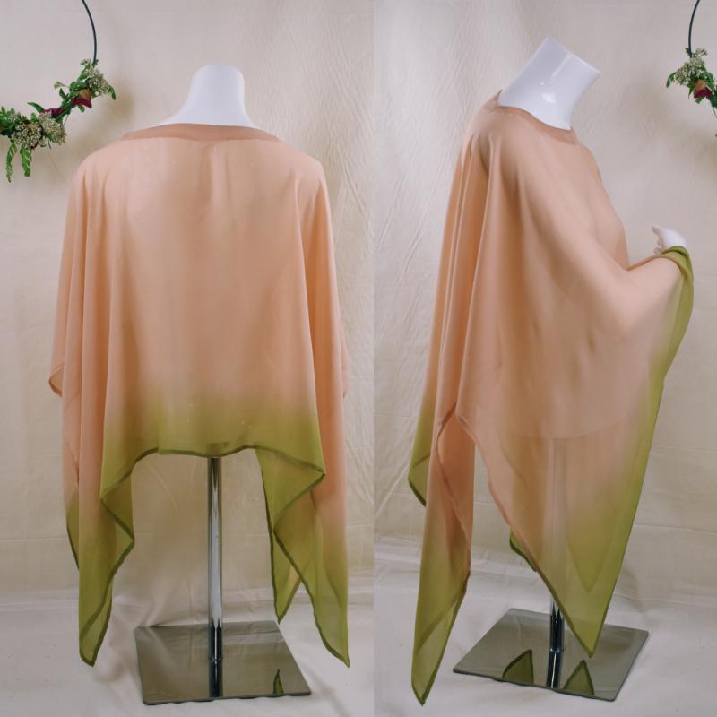 Silk cape, silk scarf, silk...