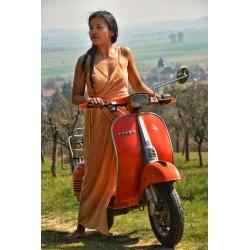 Silk velvet wrap dress,...