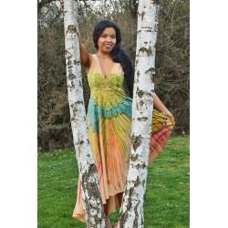 Silk dress, swing dress for...