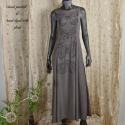 Long silk dress,...