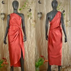 Silk dress with knot, satin...