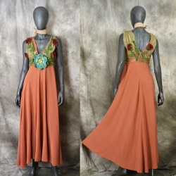 Empire silk dress, mystical...