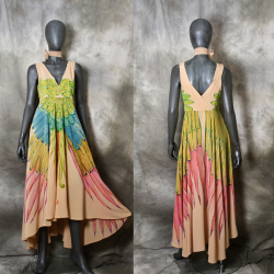 Silk dress, swing dress for...