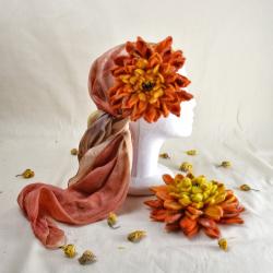Dahlia felt flower, brooch,...